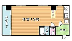 福岡県北九州市小倉北区室町3の賃貸マンションの間取り