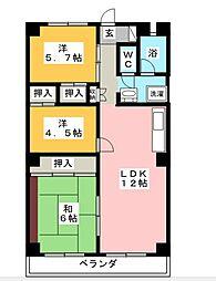 サン80湘南台[4階]の間取り