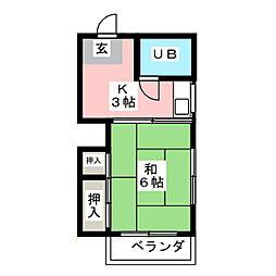 池田ハイツ[3階]の間取り