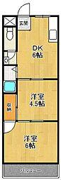 メゾンナカムラ[304号室]の間取り