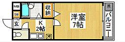 大阪府堺市北区中百舌鳥町1丁の賃貸マンションの間取り