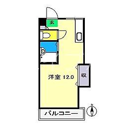 コーポグランドライン[2階]の間取り