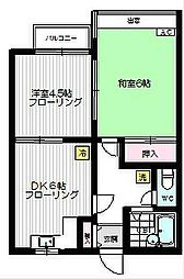 埼玉県ふじみ野市北野2丁目の賃貸アパートの間取り