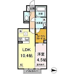 D-room泉台A棟[103号室]の間取り