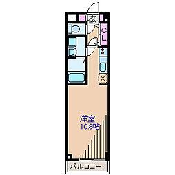 神奈川県横浜市港北区岸根町の賃貸マンションの間取り