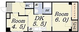 ハイグレード本田[6階]の間取り