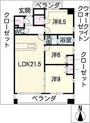CASA川名山[1階]の間取り