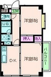 兵庫県尼崎市小中島2丁目の賃貸マンションの間取り
