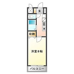 江坂ニュー白百合[7階]の間取り