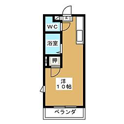 メゾンドMORI[1階]の間取り