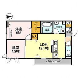 レオンガーデン 〜leon Garden〜[2O1号室号室]の間取り
