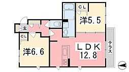 シャーメゾン広畑 B棟[102号室]の間取り