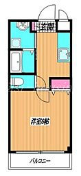 京王井の頭線 三鷹台駅 徒歩5分の賃貸マンション 1階1Kの間取り