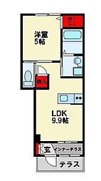 仮)八幡東区尾倉1丁目新築アパート[1階]の間取り