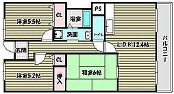 プレミール28[3階]の間取り
