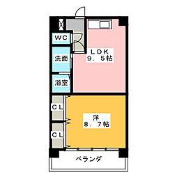 ケイズマンション赤池[3階]の間取り