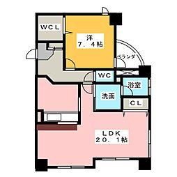 サンクリエ[2階]の間取り