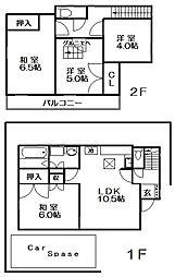[一戸建] 東京都杉並区井草5丁目 の賃貸【/】の間取り