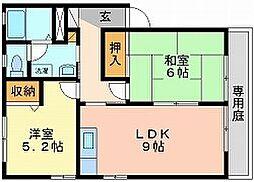 岡山県岡山市東区可知2丁目の賃貸アパートの間取り