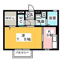 愛知県名古屋市西区中沼町の賃貸アパートの間取り