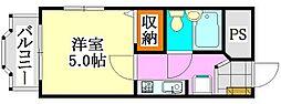 メゾンYOU&YOU[3階]の間取り