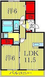 グランドソレイユA・B[2階]の間取り