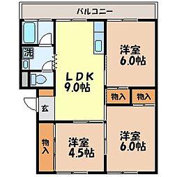 昭和グリーンハイツ[104号室]の間取り
