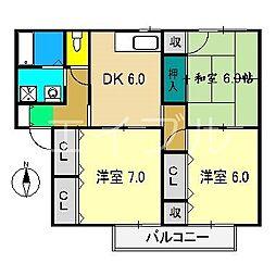 マンションハウス中村II[2階]の間取り