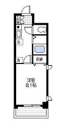 神奈川県横浜市都筑区仲町台1丁目の賃貸アパートの間取り