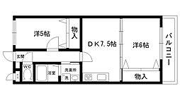 アルカサル甲子園[202号室]の間取り