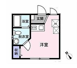 東京メトロ東西線 早稲田駅 徒歩6分の賃貸マンション 1階ワンルームの間取り