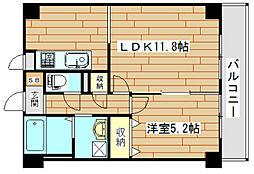 大阪府高槻市緑が丘3丁目の賃貸マンションの間取り