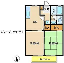 兵庫県神戸市西区北別府5丁目の賃貸アパートの間取り