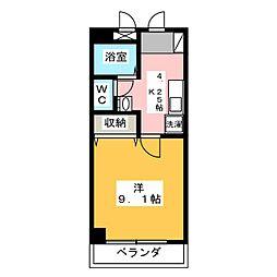 タイショウ7ビル[6階]の間取り