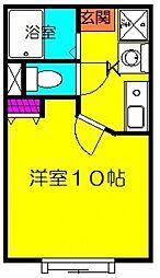 バルパレーアトリエII[402号室号室]の間取り