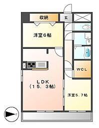 GRANDUKE丸田町(グランドュークマルタマチ)[12階]の間取り