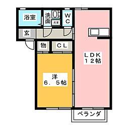 ハイツIII[2階]の間取り