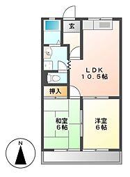 ロイヤルコープM[3階]の間取り