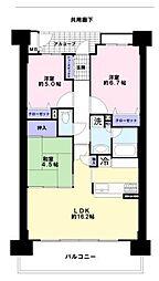 花コーポ・神戸東山館[12階]の間取り