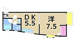 東京都足立区青井3丁目の賃貸マンションの間取り