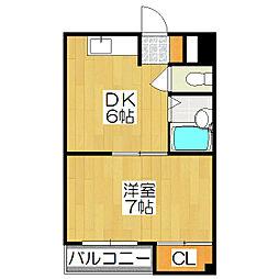 西賀茂ロイヤルリバーマンション[309号室]の間取り