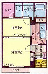 神奈川県横浜市金沢区富岡東4丁目の賃貸マンションの間取り