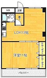 亀田ビル[2階]の間取り