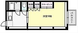 ソレイユ野田[204号室]の間取り