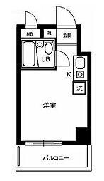日興パレセゾン早稲田[4階]の間取り
