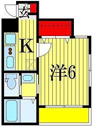 千葉県船橋市前原西2丁目の賃貸アパートの間取り