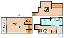 ゴールドパレス箱崎駅前[2階]の間取り