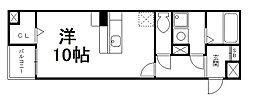 アベニューサイド五条[4階]の間取り