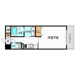 JR大阪環状線 京橋駅 徒歩6分の賃貸マンション 1階1Kの間取り