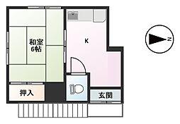 秦荘[201号室]の間取り